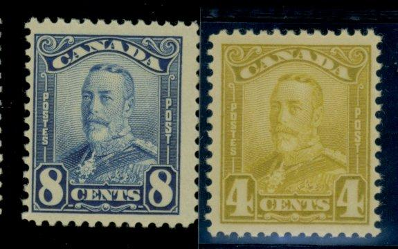 Canada #152 154 MINT F-VF OG NH CAt$85