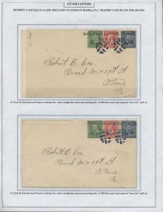 GUAM #1,2,5 ON (3) CVRS TO ALTOONA, PA 2 COVERS W/ BEAR CLAW CNLS BS8410 HS108G