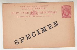 ORANGE FREE STATE, Postcard Stamps, Arms overprint  1d  on