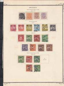sweden 1911-34 stamps page ref 18089