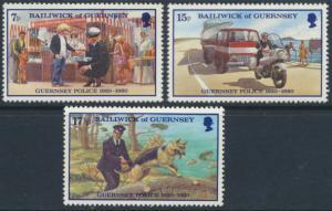Guernsey MNH 204-6 Guernsey Police 1980