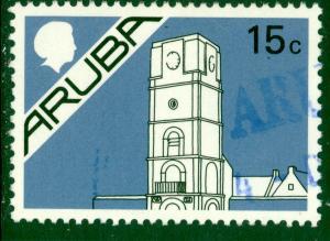 ARUBA 1986-87 15c King William III Tower Pictorial Sc 2 VFU