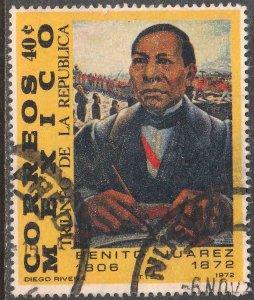 MEXICO 1044, Benito Juarez Death Centennial. Used. (869)