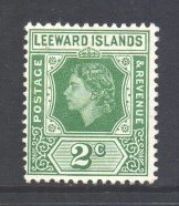 Leeward Is Scott 135 - SG128, 1954 Elizabeth II 2c MH*