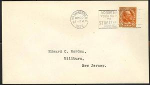 558, 6c SCARCE FIRST DAY COVER - XF ED WORDEN
