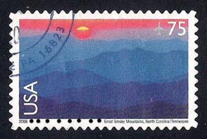 C140 75 cent Great Smoky Mountain, Stamp used XF