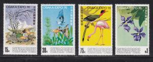SINGAPORE #112-115, Mint VF World Expos set
