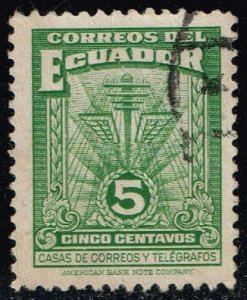 Ecuador #RA49A Communication Symbols; Used (0.25)