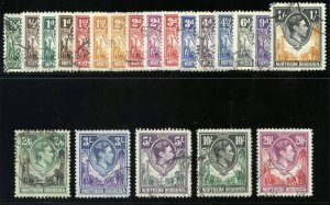 Northern Rhodesia 1938 KGVI set complete very fine used. SG 25-45. Sc 25-45.
