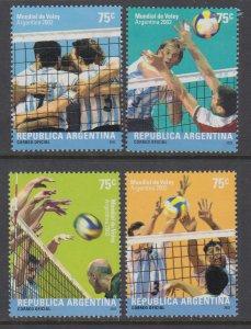 Argentina 2199-2202 Volleyball MNH VF