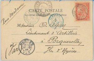 44978 -  MADAGASCAR -  POSTAL HISTORY: POSTCARD to FRANCE : TANANARIVE 1905