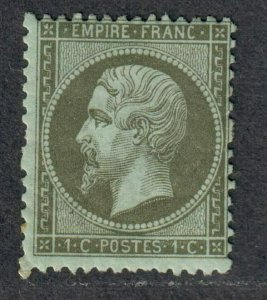 $France Sc#22 M/H/F, Cv. $140