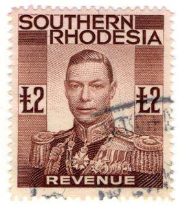 (I.B) Southern Rhodesia Revenue : Duty Stamp £2