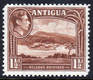 Antigua KGVI 1938 1.5d Chocolate-Brown SG100 Mint Hinged