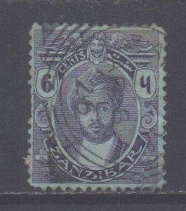 Zanzibar Scott 161- SG281, 1921 Sultan 6c used