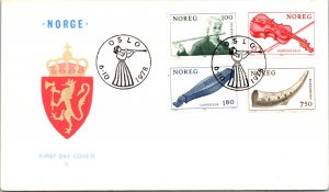Norway, Worldwide First Day Cover, Music