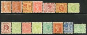 AUSTRALIAN STATES VICTORIA  SCOTT#169/183  MINT HINGED--SCOTT VALUE $317.75