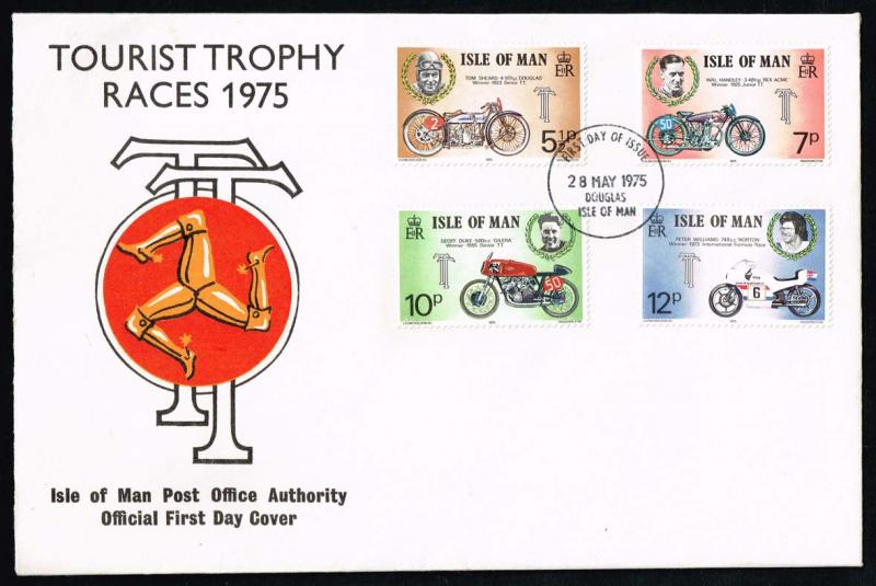 Isle of Man #66-69 TT Motorcycle Races Official FDC