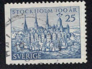 SWEDEN Scott 451 Used Stockholm 700 year anniversary stamp