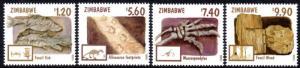 Zimbabwe - 1998 Fossils Set MNH** SG 970-973