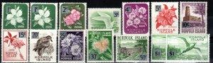 Norfolk Island #71-82, 71a, 82a MNH CV $17.50 (X828)