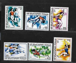 BULGARIA,2597-2602, MNH, 1980 OLYMPIC GAMES