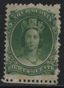 NOVA SCOTIA, 11, HINGED, TONED, 1860-63, QUEEN VICTORIA