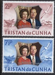 Tristan da Cunha  #178-179  1972  MNH silver wedding