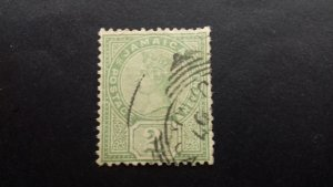 Jamaica Queen Victoria 2 pence Used