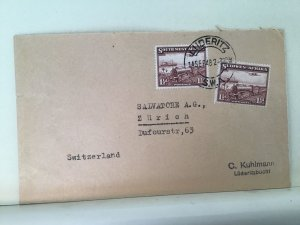 South West Africa 1948 Luderitz  to switzerland stamps cover Ref  R25622