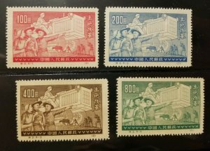 PRC-China Stamp Scott#128-131 Old & New Methods of Farming 1952 Reprints MNH