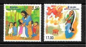 #7910 SRI LANKA(CEYLAN) 2001,ART RELIGION CHRISTMAS YV 1271-2 MNH