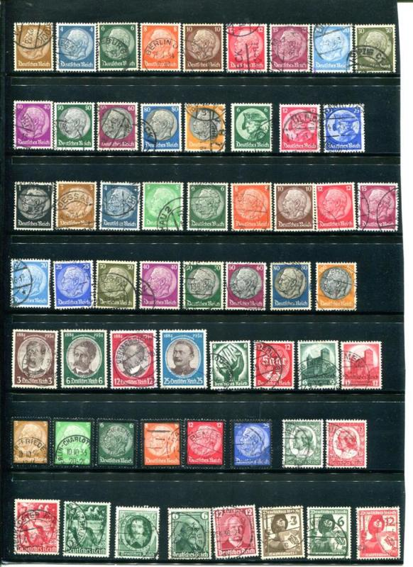 Germany  2 pages of complete sets  Lakeshore Philatelics