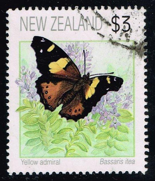 New Zealand #1077 Yellow Admiral; Used (3.50)