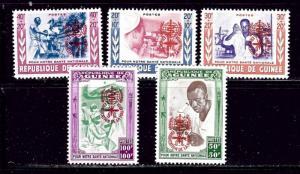 Guinea B25-29 MNH 1962 set