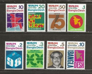 Bangladesh Scott catalog # 1-8 Mint NH