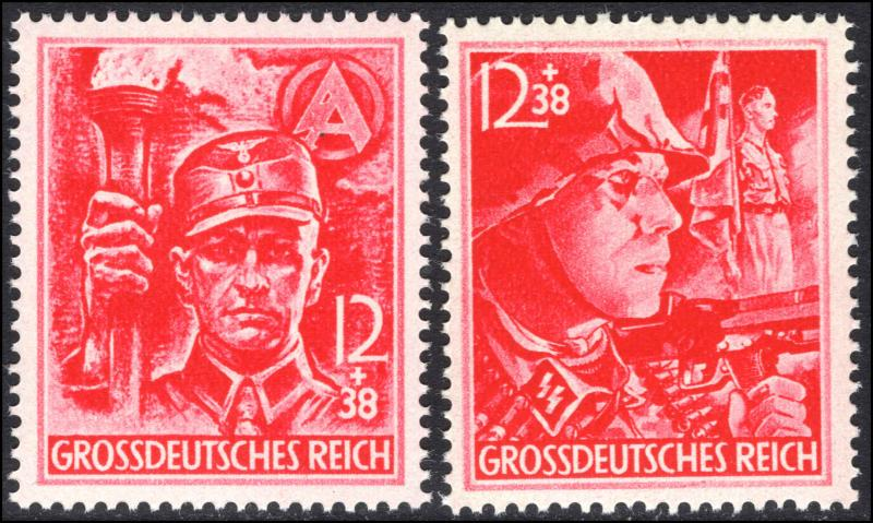 Germany Third Reich 1945 12th Anniversary of the Third Reich, unmounted mint.
