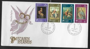Pitcairn Island 262-65 Christmas Paintings Unaddressed FDC