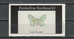 Eynhallow, 1982 issue. Large Emerald IMPERF s/sheet. *