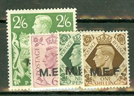 Great Britain Middle East Forces 1-9 mint CV $25.20