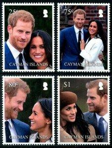 HERRICKSTAMP NEW ISSUES CAYMAN ISLANDS Sc.# 1201-04 Royal Wedding Prince Harry
