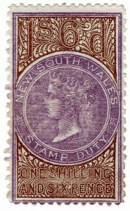 (I.B) Australia - NSW Revenue : Stamp Duty 1/6d
