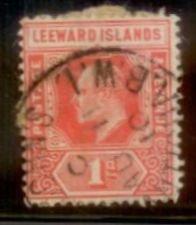 Leeward Islands 1907 SC# 43 Used hinged remnant  L156