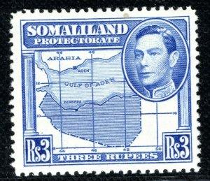 SOMALILAND KGVI Stamp SG.103 3r High Value (1938) Mint MNH Cat £25+ LBLUE80