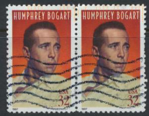 USA Used  SC# 3152 Humphrey Bogart pair  see details