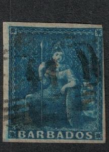 Barbados 1852 SC 2 Used SVC$ 80.00