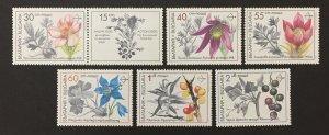 Bulgaria 1991 #3646-51, Flowers, MNH.