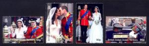 British Indian Ocean Territory Sc# 427-30 MNH Royal Wedding
