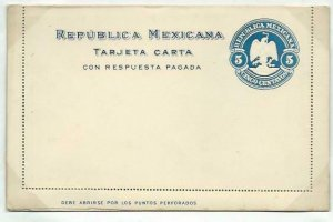 MEXICO 5c lettercard with reply lettercard inside 1899 ....................58757