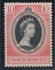 North Borneo  SG 371 SC# 260 MVLH  Coronation 1953
